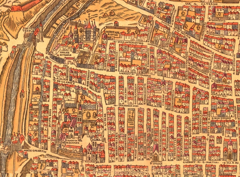 Stadtplan Paris 1553 aus der Universitätsbibliothek Basel