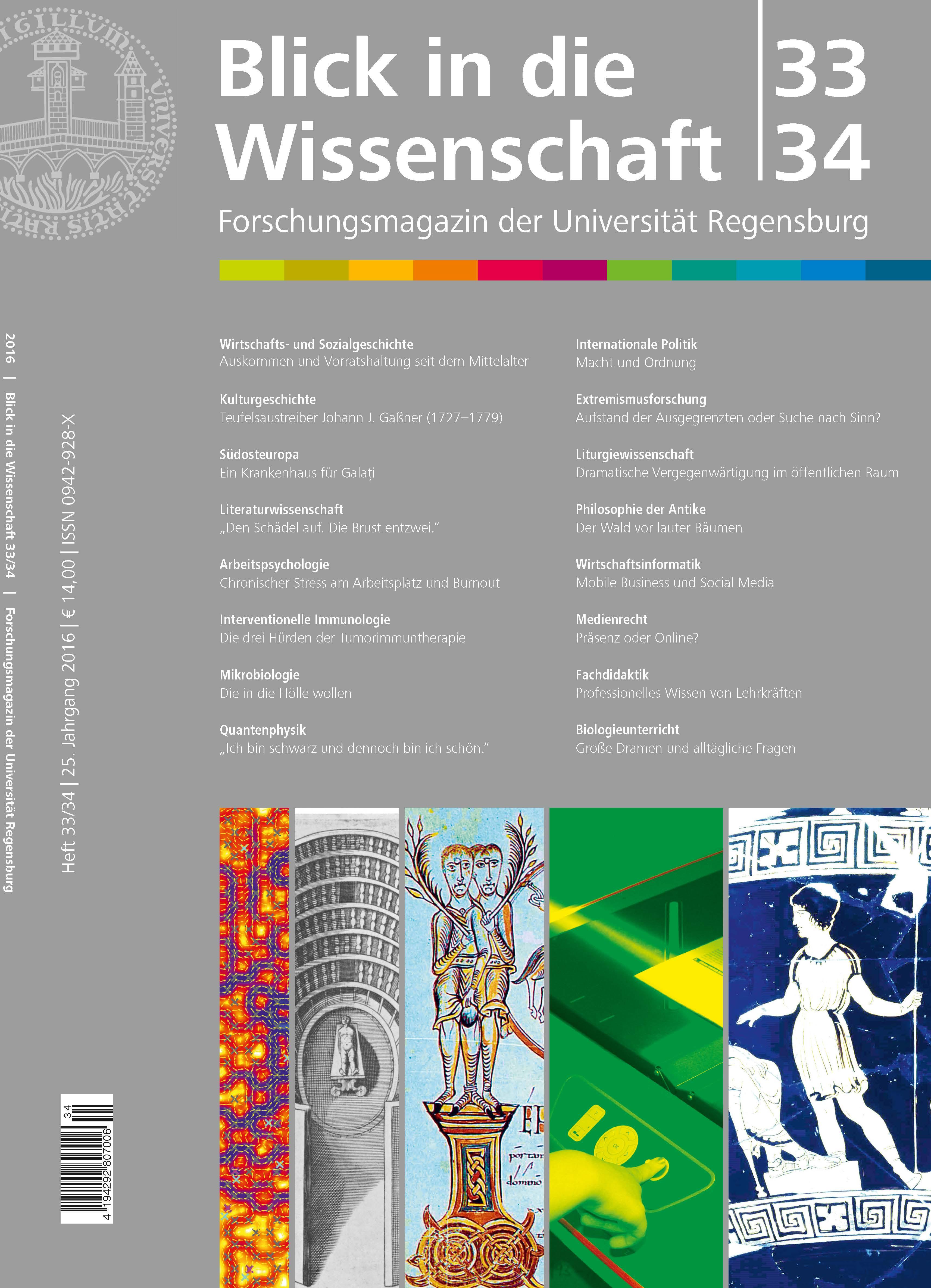 Forschungsmagazin der Universität Regensburg